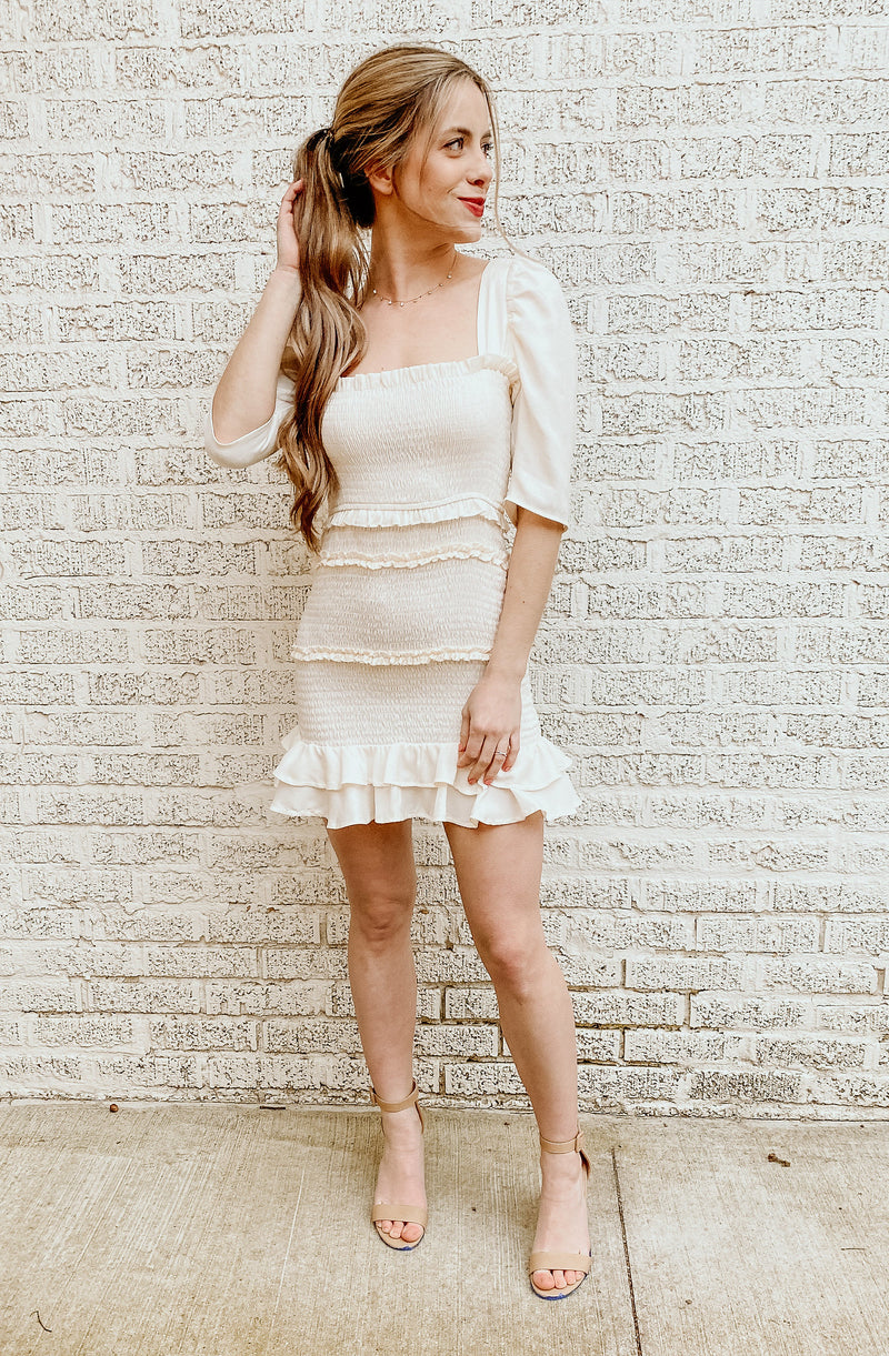 PUFF PASTRY MINI DRESS