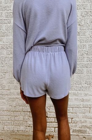 IN THE LAVENDER SEA SET SHORTS