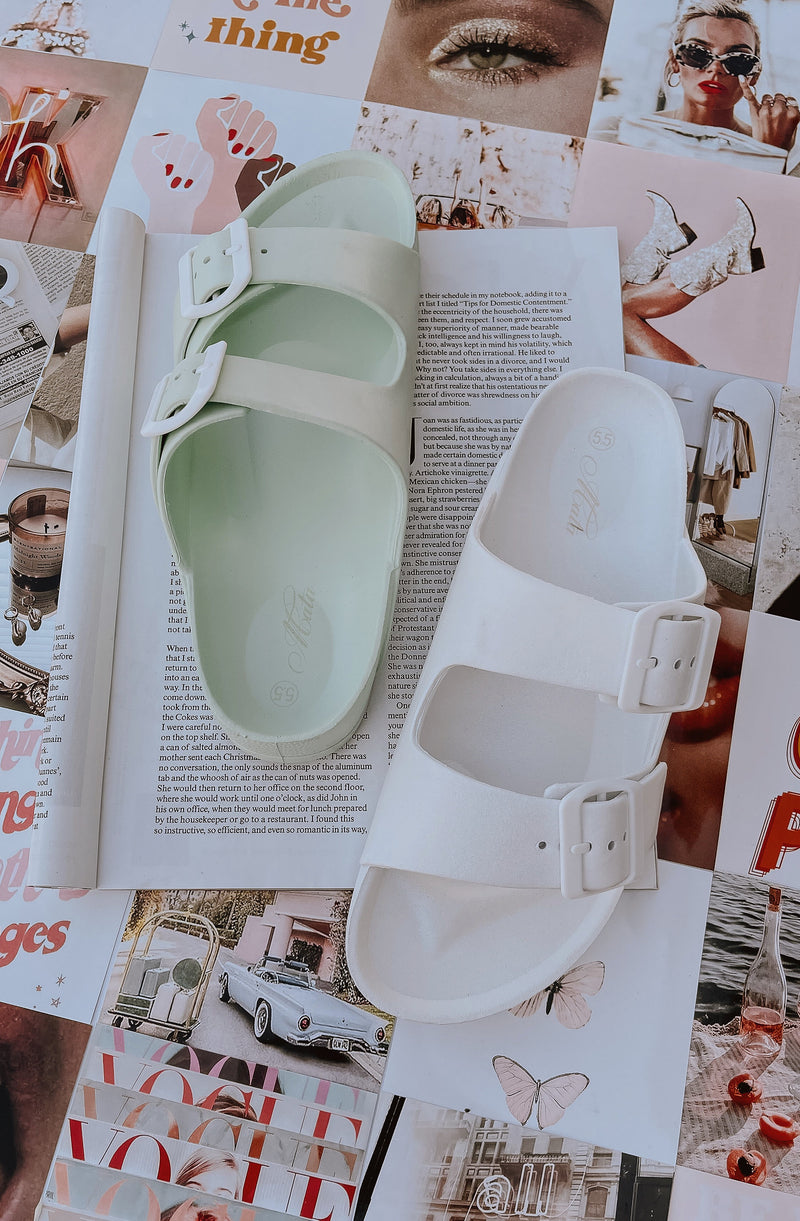 NEVERENDING WEEKEND SLIP ON SANDALS