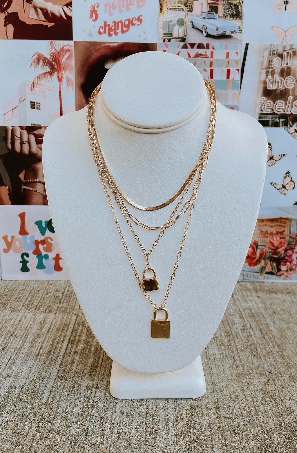 GOT IT ON LOCK 4 CHAIN NECKLACE