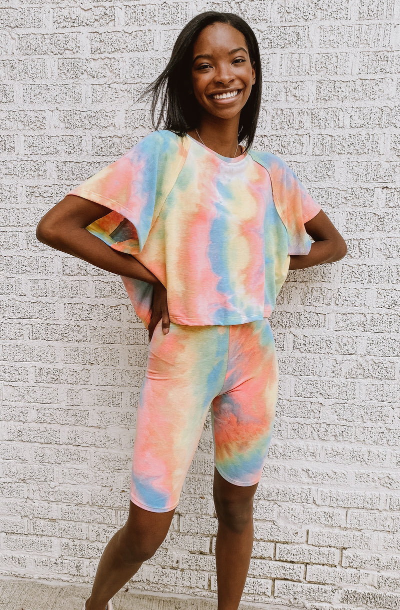 TIE DYE KOOLAID SET BIKER SHORTS