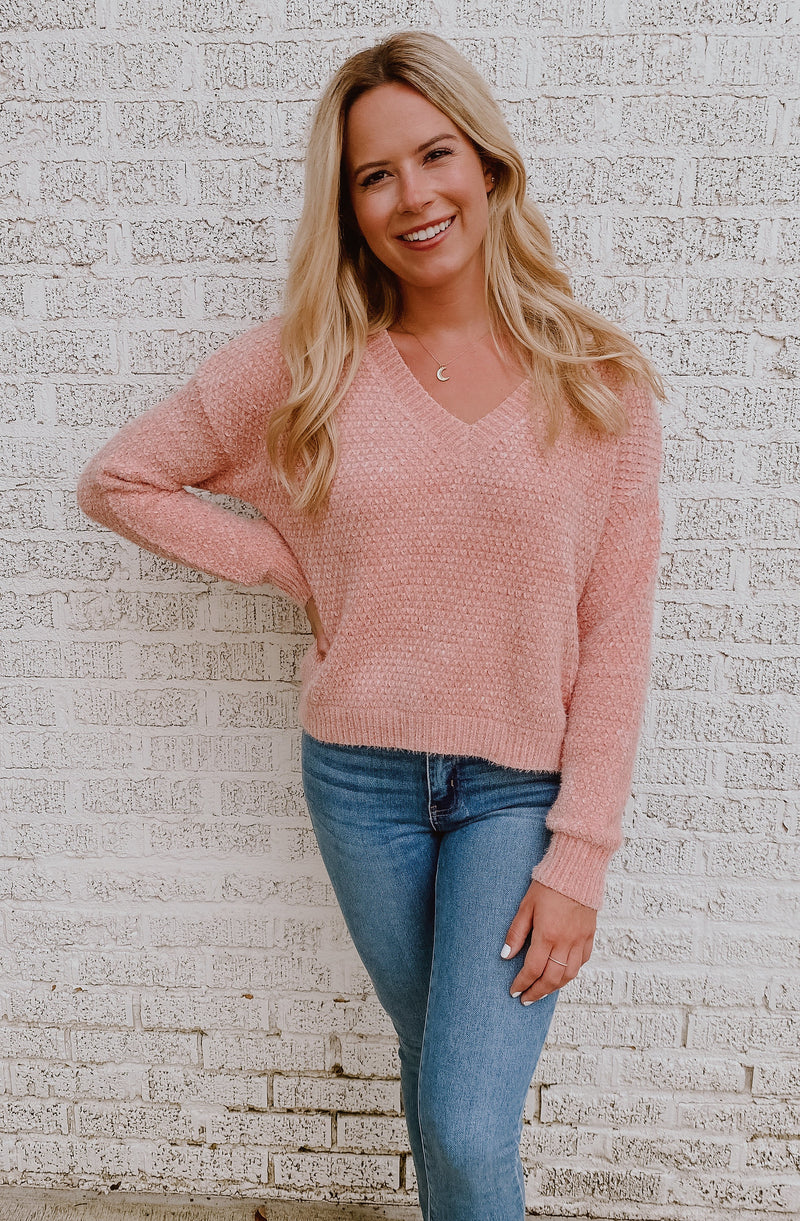 ICY ROSE BLUSH SWEATER