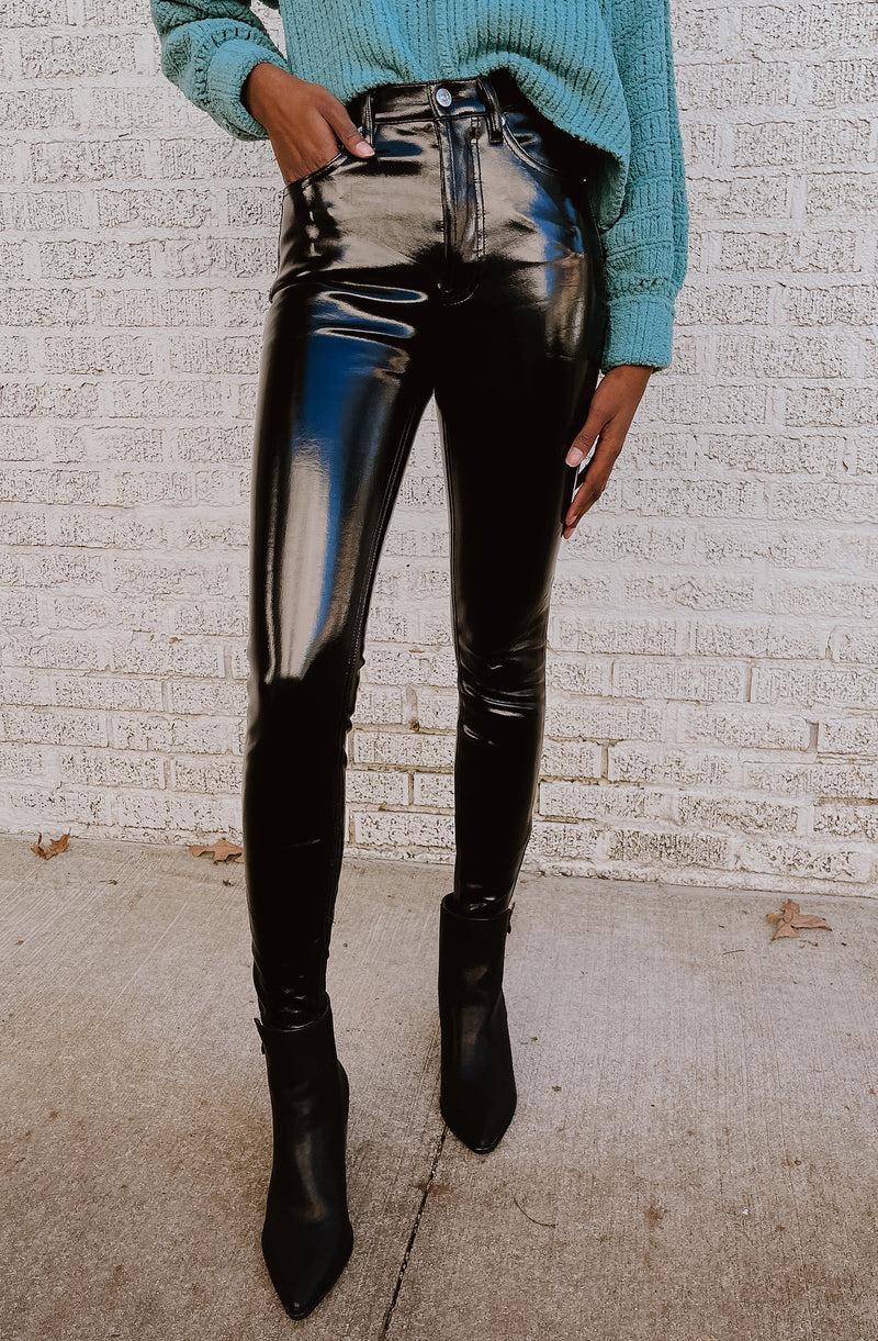 LEATHER YOU LIKE IT OR NOT FAUX LEATHER SKINNY PANTS
