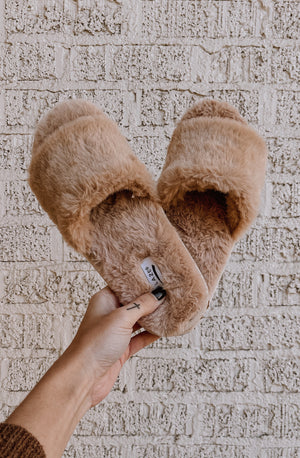 I'D RATHER STAY AT HOME FUZZY HOUSE SLIPPERS