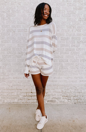 PALILA SET STRIPED SHORTS