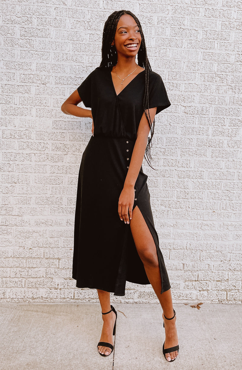 MEET ME IN THE MIDI-LE MIDI DRESS