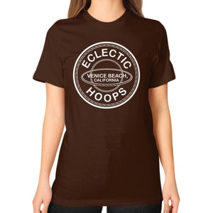 Unisex T-Shirt (on woman) Brown - EclecticHoops.com