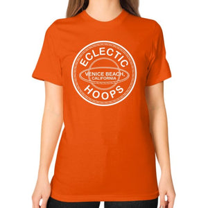 Unisex T-Shirt (on woman) Orange - EclecticHoops.com