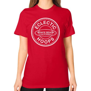 Unisex T-Shirt (on woman) Red - EclecticHoops.com