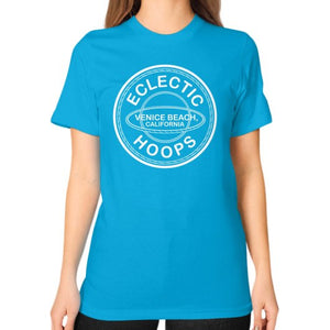 Unisex T-Shirt (on woman) Teal - EclecticHoops.com