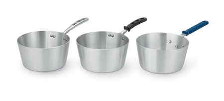 Wear-Ever® Tapered Sauce Pans with Natural Finish