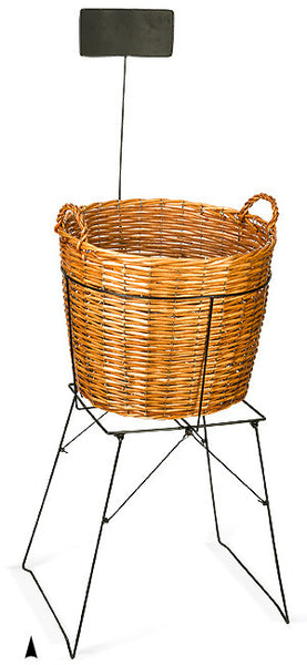 Round Display Basket on Stand