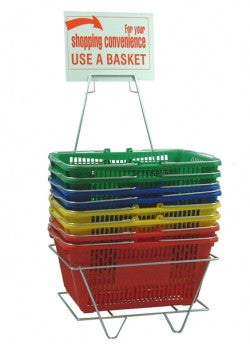 Simple Plastic Shopping Baskets