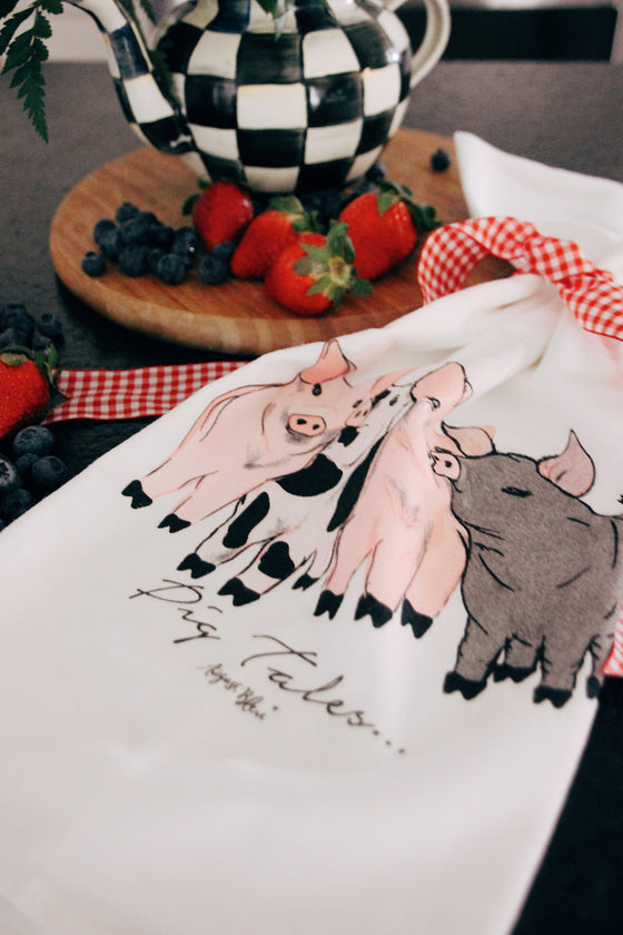 Pig Tales Tea Towel