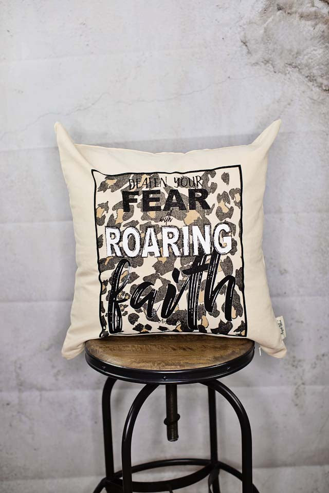 Roaring Faith Pillow Cover