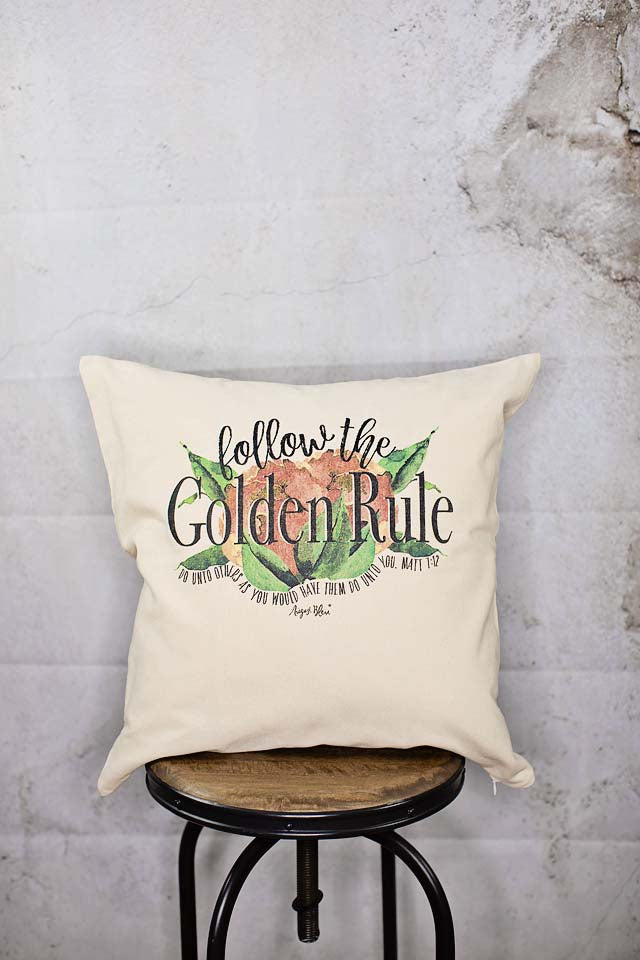 Golden Rule Pillow Cover