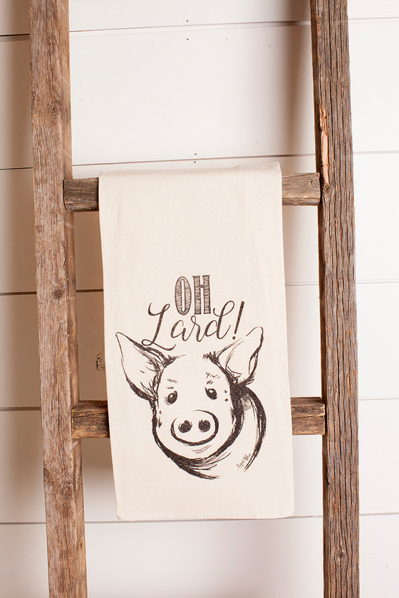 Tea Towel Oh Lard! Pig