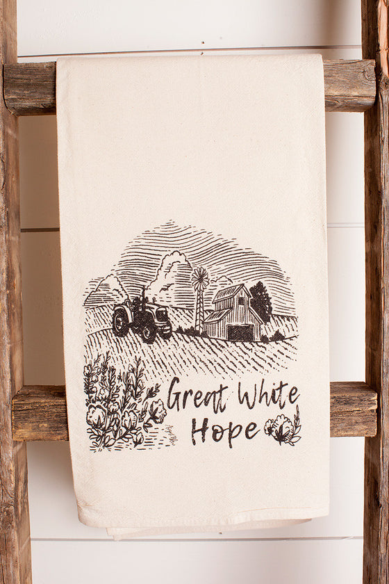 Tea Towel Great White Hope