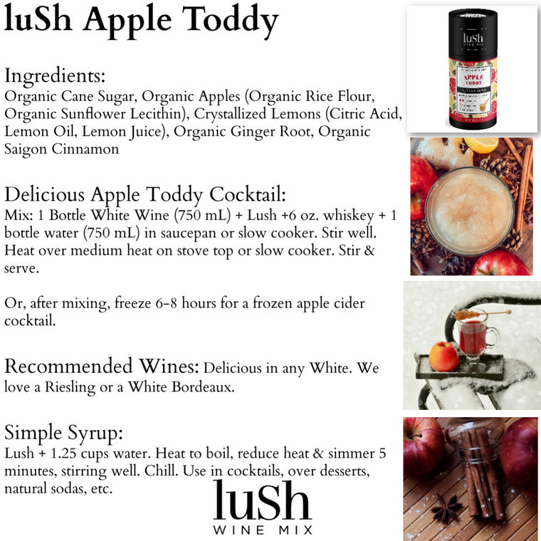 Apple Toddy Lush Wine Mix