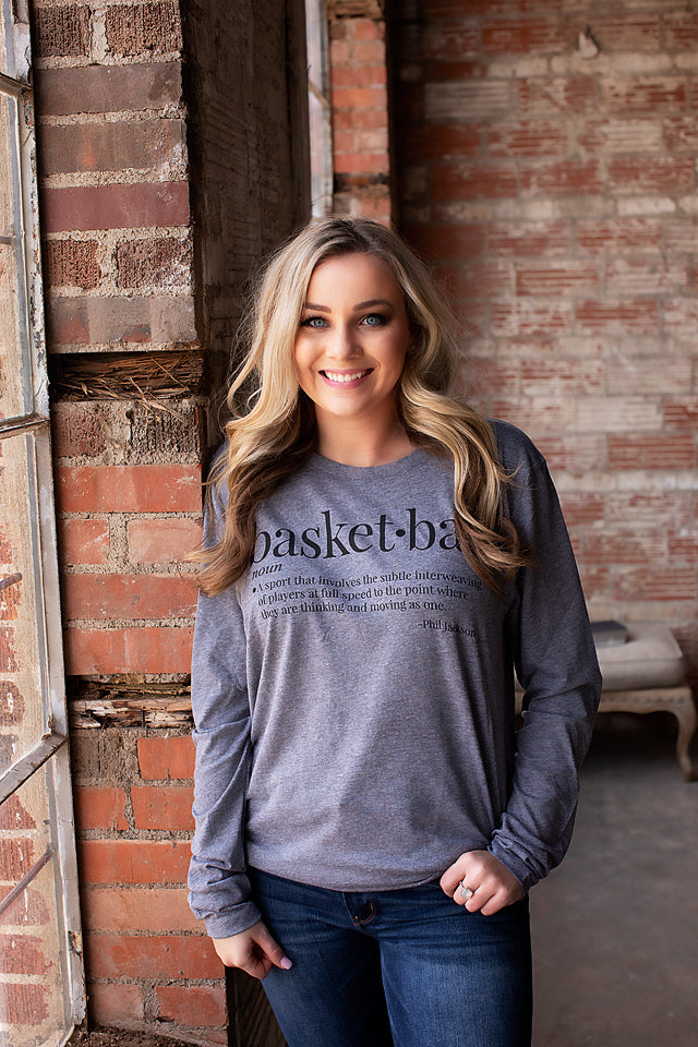 Webster Basketball Long Sleeve Tee
