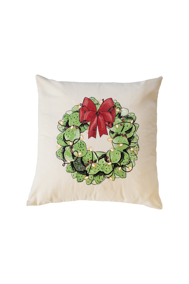 Cactus Wreath Pillow Cover