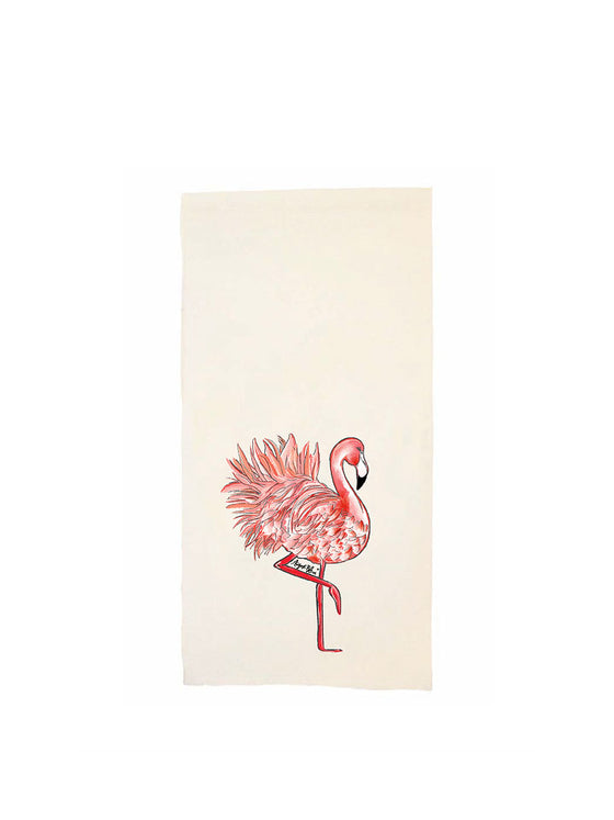 Fancy the Tropical Flamingo Tea Towel