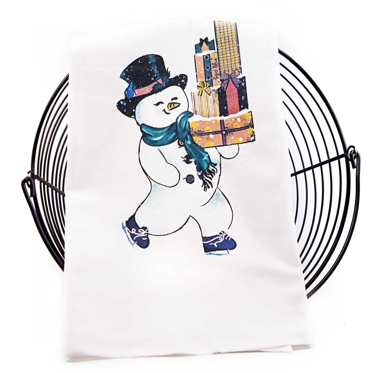 Jolly the Snowman Tea Towel