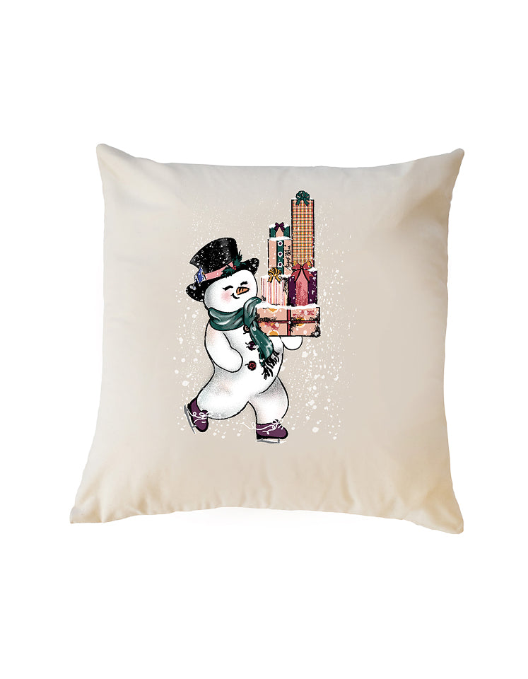 Jolly the Snowman Pillow Cover