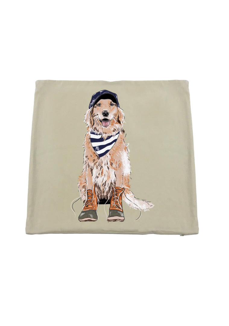 Max the Golden Retriever Pillow Cover