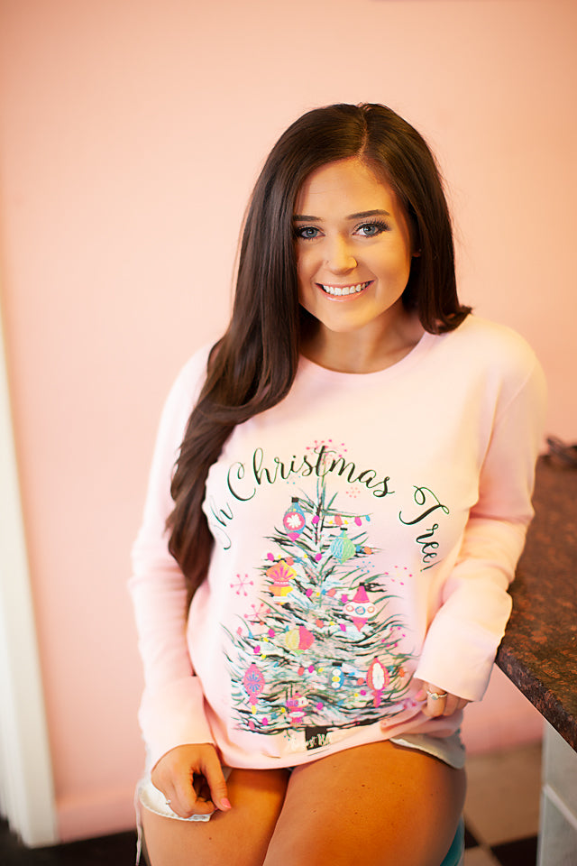 Pink Pastel Oh Christmas Tree Thermal