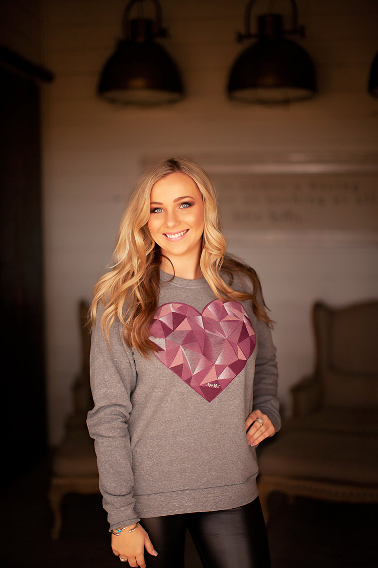 Prism Heart Grey Sweatshirt