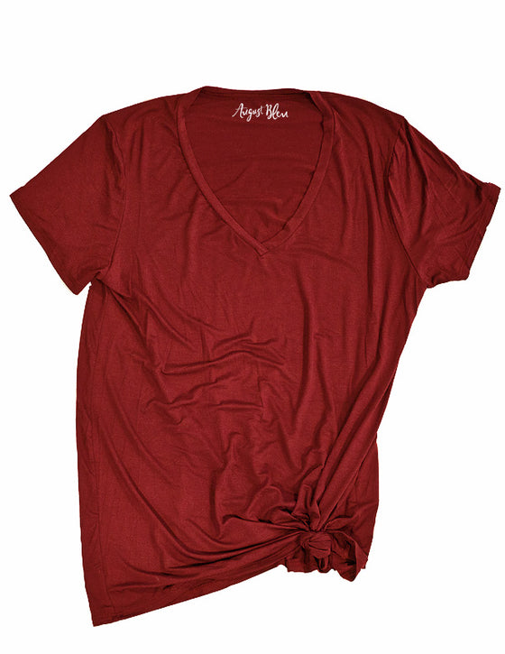 The Crimson Basic Tee v-neck