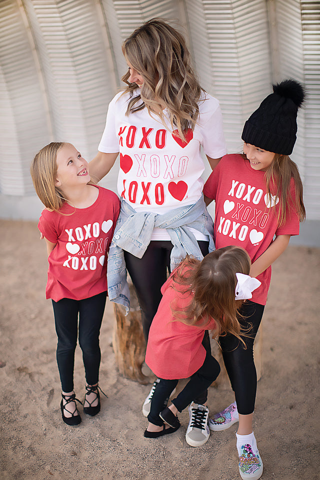 XOXO Kid's Red Short Sleeve