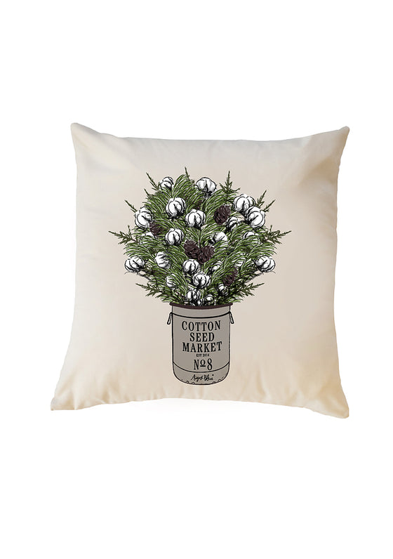 Cotton Market Pillow Cover