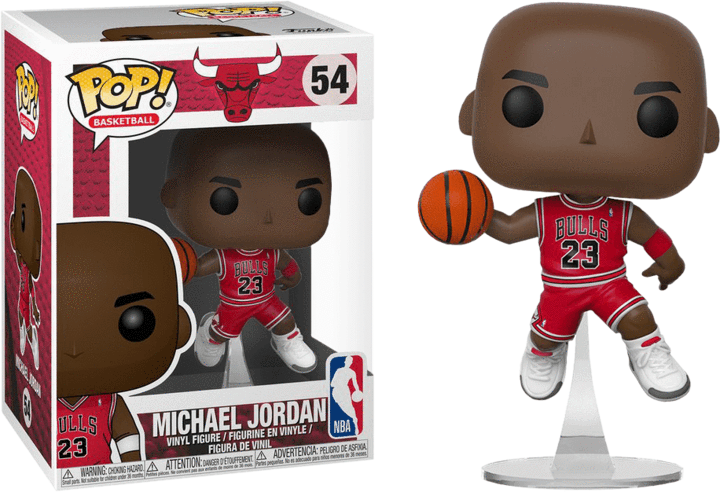 Michael Jordan POP! Vinyl Figure - Bulls Red Jersey