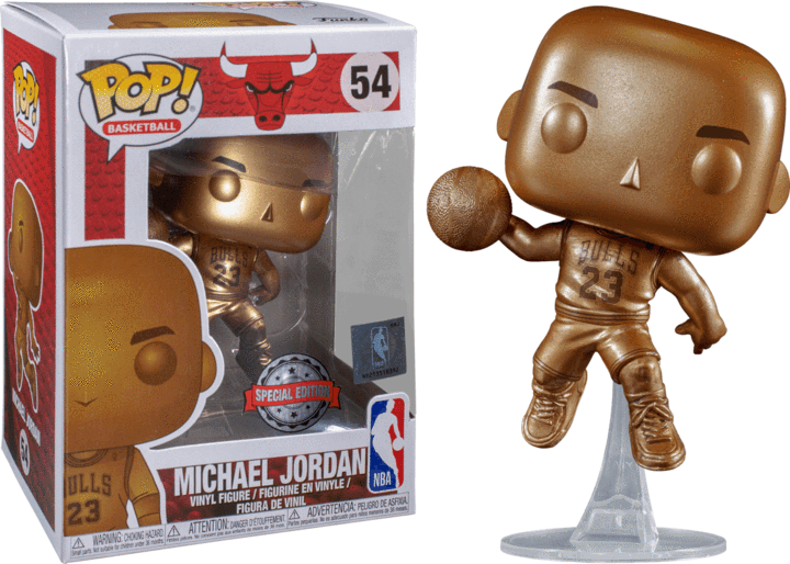 Michael Jordan POP! Vinyl Figure - Bulls Bronze