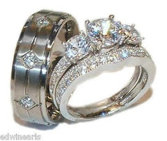 His Hers Wedding Ring Sets