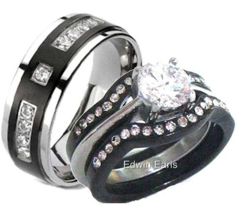 His Hers Wedding Ring Sets – Edwin Earls Jewelry