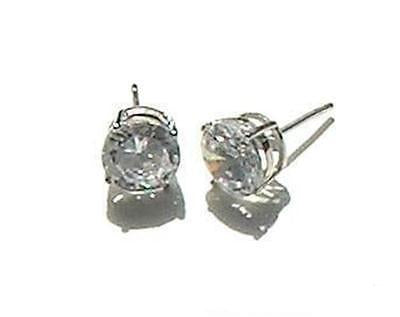Men/ Women's 2ct Brilliant Cut Stud Earrings Solid 925 Sterling Silver