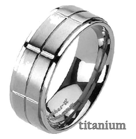 Men's Titanium Wedding Ring Band - Edwin Earls Jewelry