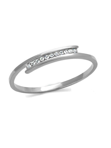 Women's Stainless Steel Cz Bangle Bracelet - Edwin Earls Jewelry