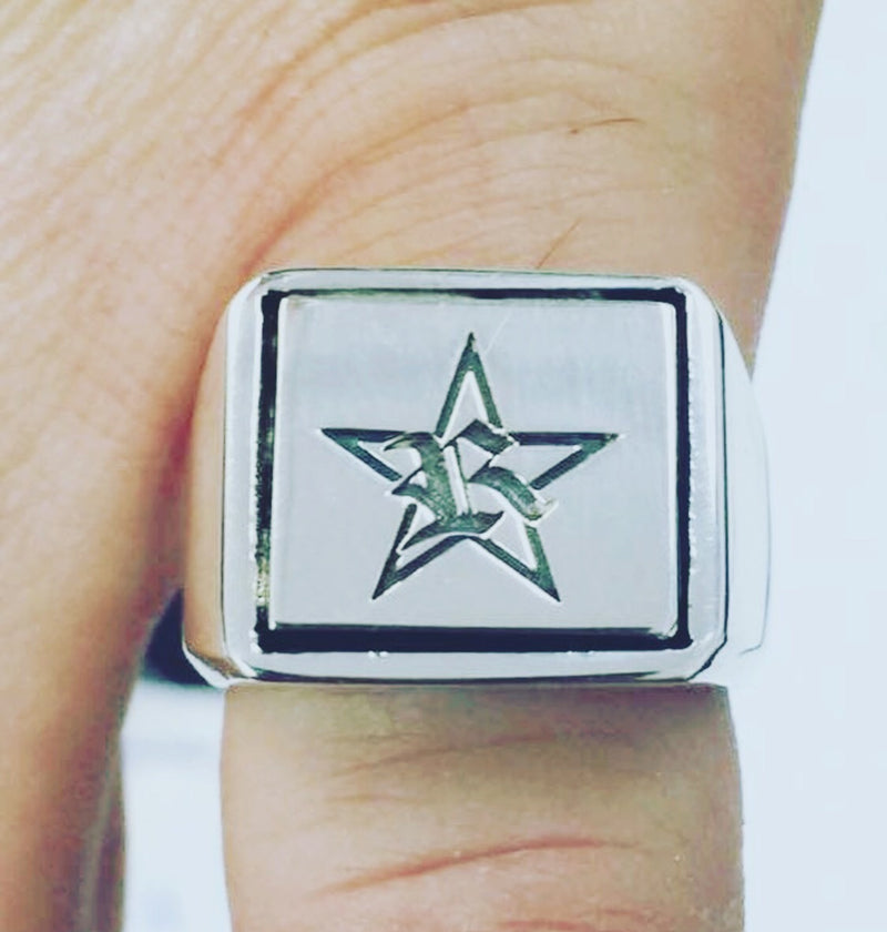 Custom logo signet ring