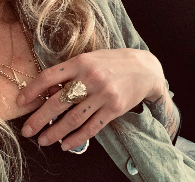 Ivy Lion Ring