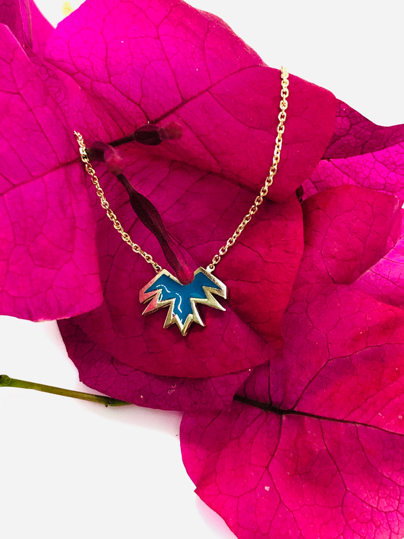 Blu bird necklace