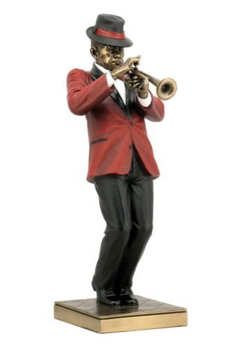 Trumpet Player Statue Sculpture Figurine - Jazz Band Collection