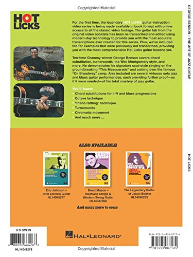 George Benson - The Art of Jazz Guitar: From the Classic Hot Licks Video Series Bk/Online Video