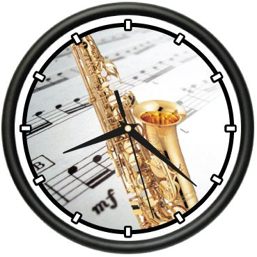 Saxophone Wall Clock Alto Saxophone Smooth Jazz