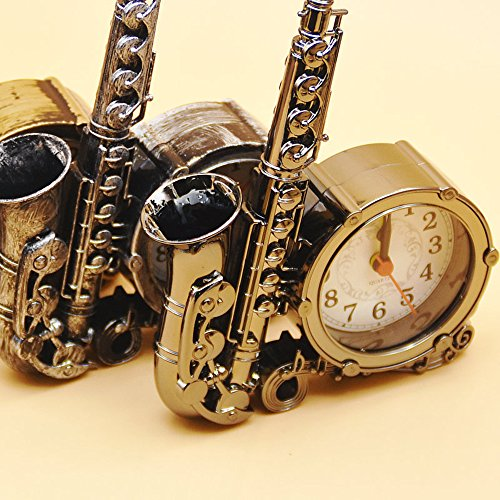 Retro Vintage Style Sax Model Alarm Clock-Ornament