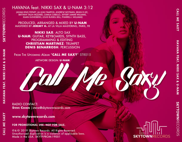 Call Me Saxy - Havana feat. Nikki Sax & U-Nam - Very limited CD Single - CD Collector