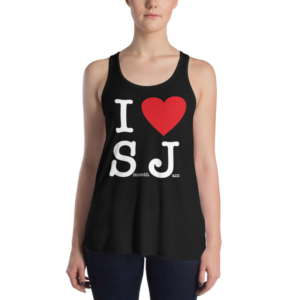 I Love Smooth Jazz - Women's Flowy Racerback Tank (SJS Exclusive)
